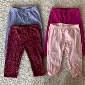 Bundle of 4 baby Gap little girls leggings